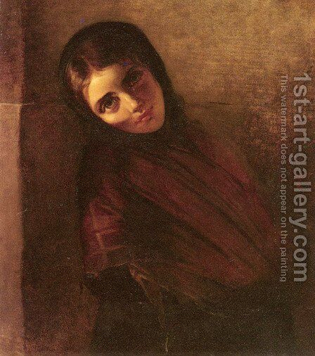 A Young Girl by Anna Maria Elisabeth Jerichau-Baumann - Reproduction Oil Painting