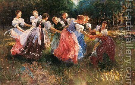 The Rite Of Spring by Ignac Ujvary - Reproduction Oil Painting