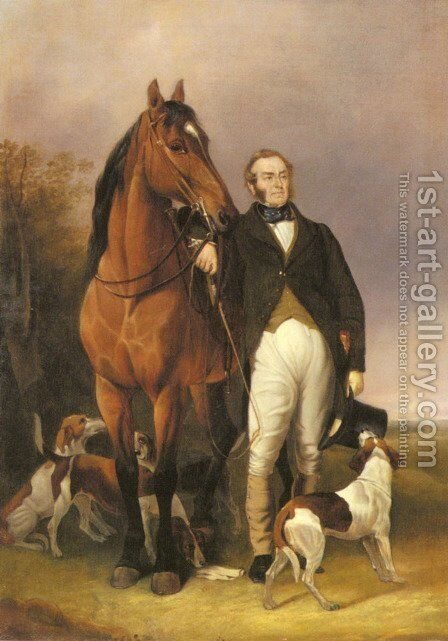 The Sporting Gentleman by Sir Francis Grant - Reproduction Oil Painting