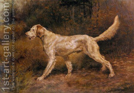 Commissioner, A Champion English Setter by Edmund Henry Osthaus - Reproduction Oil Painting