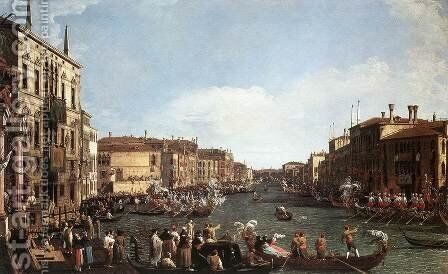 Regatta on the Grand Canal 2 by (Giovanni Antonio Canal) Canaletto - Reproduction Oil Painting