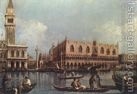 View of the Bacino di San Marco (or St Mark's Basin) by (Giovanni Antonio Canal) Canaletto - Reproduction Oil Painting