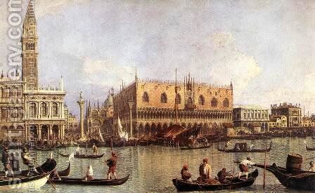 Palazzo Ducale and the Piazza di San Marco by (Giovanni Antonio Canal) Canaletto - Reproduction Oil Painting