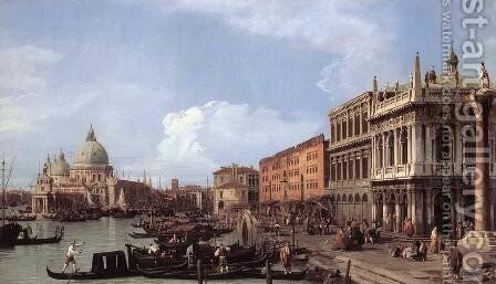 The Molo: Looking West by (Giovanni Antonio Canal) Canaletto - Reproduction Oil Painting