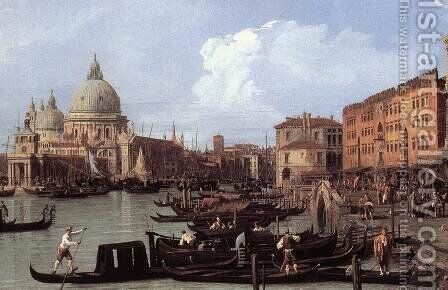 The Molo: Looking West (detail) by (Giovanni Antonio Canal) Canaletto - Reproduction Oil Painting