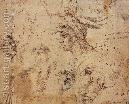 Studies by Benvenuto Cellini - Reproduction Oil Painting