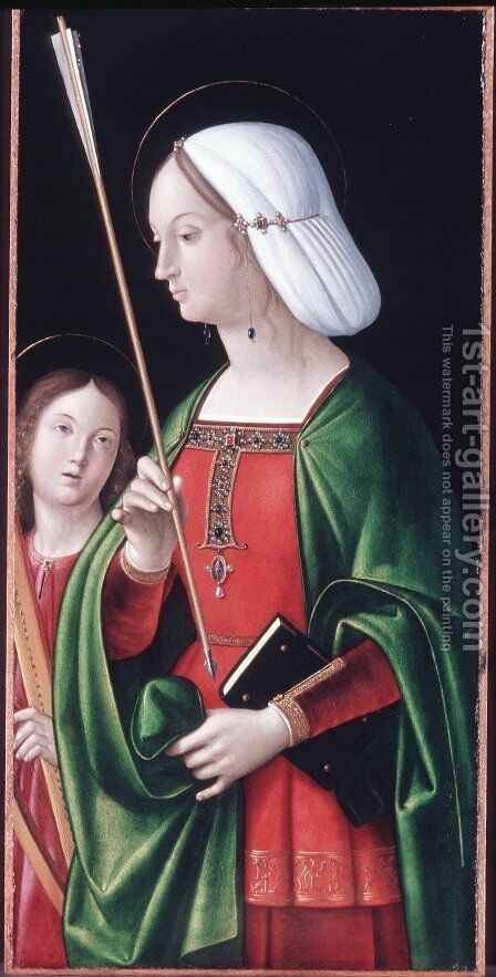 St. Ursula by Andrea Solari - Reproduction Oil Painting