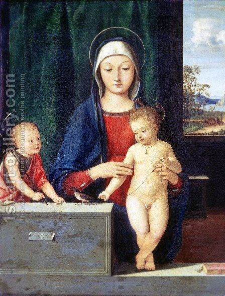 Virgin and Child by Andrea Solari - Reproduction Oil Painting