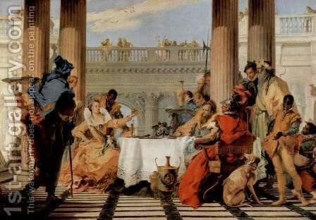 The Banquet of Cleopatra by Giovanni Battista Tiepolo - Reproduction Oil Painting