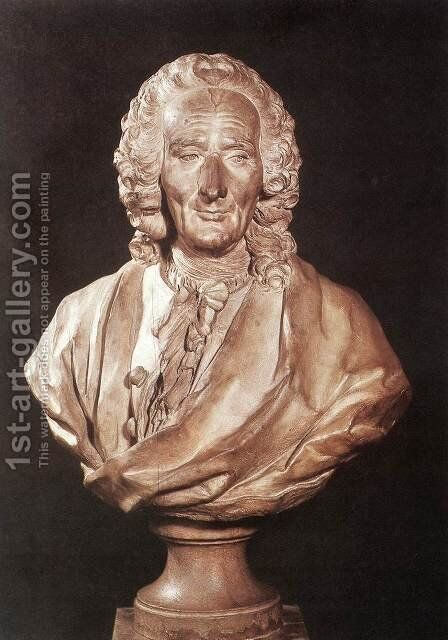 Bust of Jean-Philippe Rameau by Jean-Jacques Caffieri - Reproduction Oil Painting