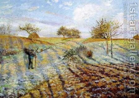 Gelée Blanche (Hoarfrost) by Camille Pissarro - Reproduction Oil Painting