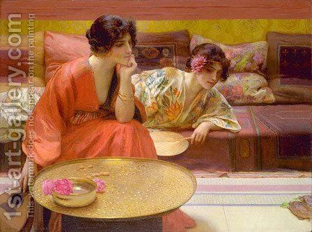 Idle Hours by Henry Siddons Mowbray - Reproduction Oil Painting