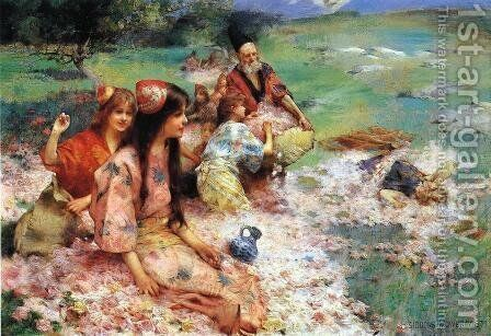 Oriental Fantasy by Henry Siddons Mowbray - Reproduction Oil Painting