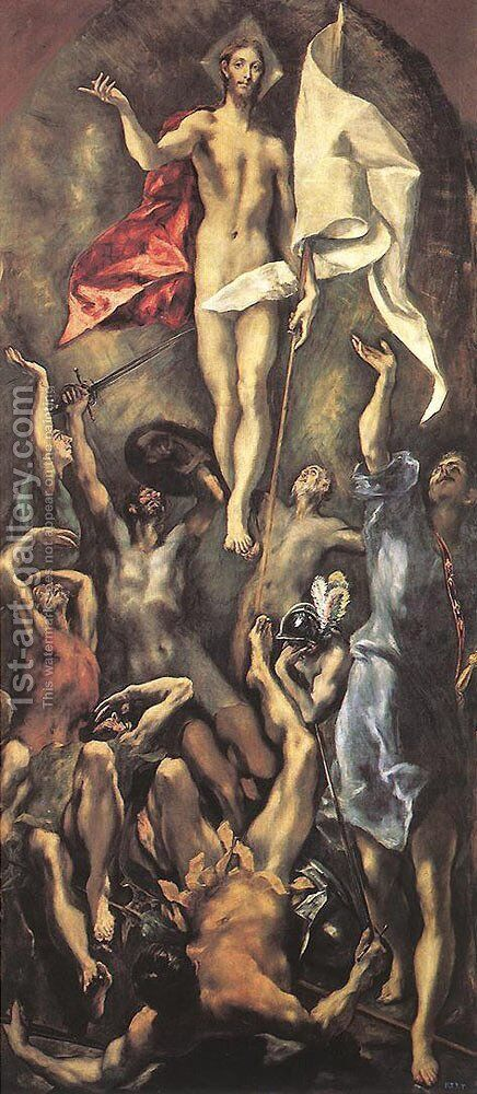 The Resurrection by El Greco - Reproduction Oil Painting
