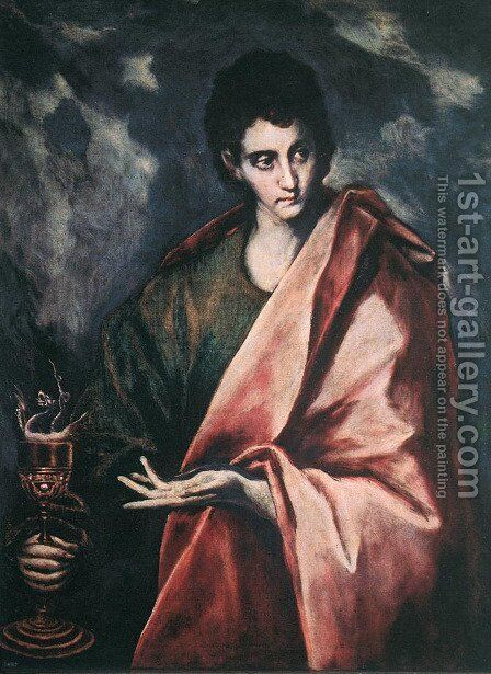 St. John the Evangelist by El Greco - Reproduction Oil Painting