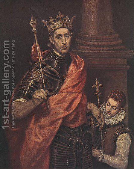 A Saintly King by El Greco - Reproduction Oil Painting