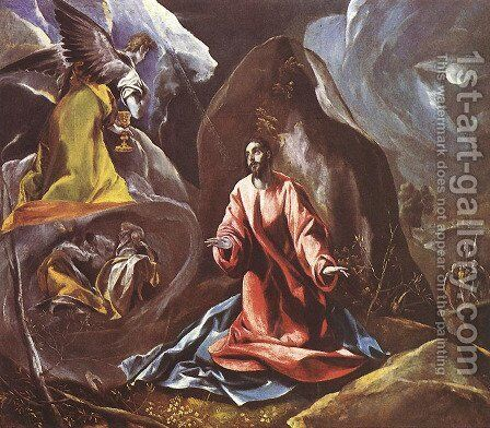 Agony in the Garden by El Greco - Reproduction Oil Painting