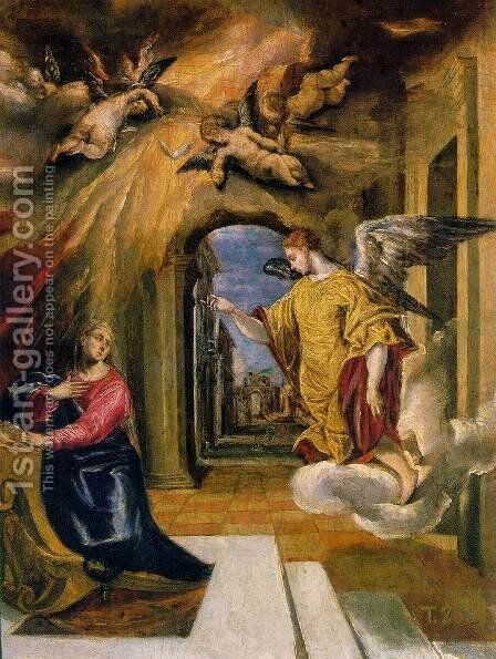 The Annunciation by El Greco - Reproduction Oil Painting