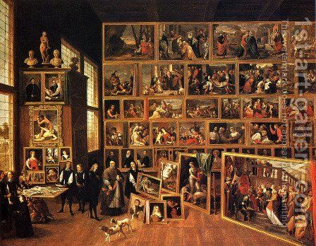 The Archduke Leopold - Wilhelm's Studio by David The Younger Teniers - Reproduction Oil Painting