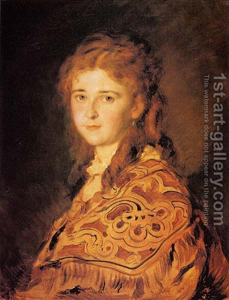 Junge Frau (Young Woman) by Hans (Johann von Strasiripka) Canon - Reproduction Oil Painting