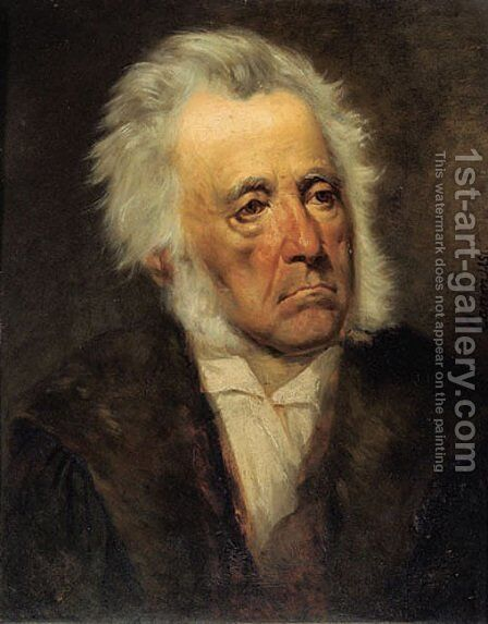 Portrait of Arthur Schöpenhauer by Hans (Johann von Strasiripka) Canon - Reproduction Oil Painting