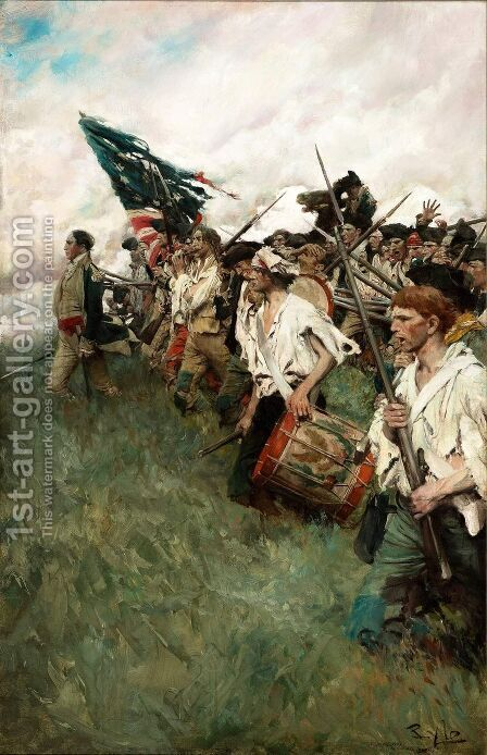 The Nation Makers by Howard Pyle - Reproduction Oil Painting