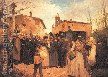 La gloria del pueblo (The glory of the people) by Antonio Fillol Granell - Reproduction Oil Painting