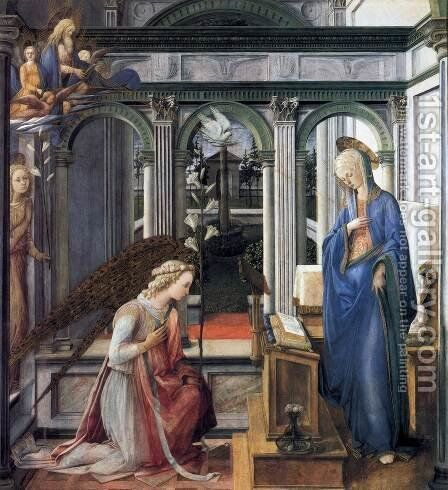 Annunciation by Fra Filippo Lippi - Reproduction Oil Painting