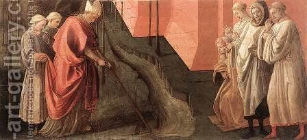 St Fredianus Diverts the River Serchio by Fra Filippo Lippi - Reproduction Oil Painting
