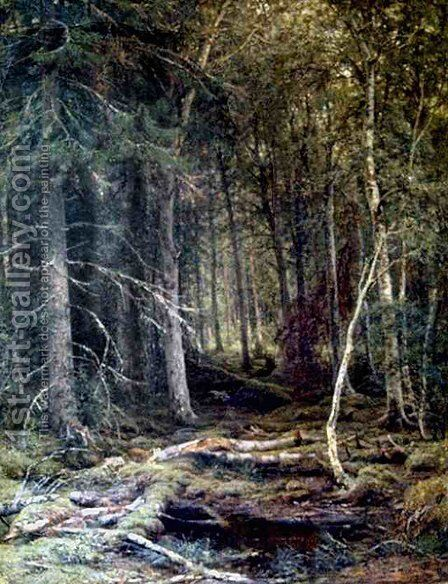 The Forest Horizons by Ivan Shishkin - Reproduction Oil Painting