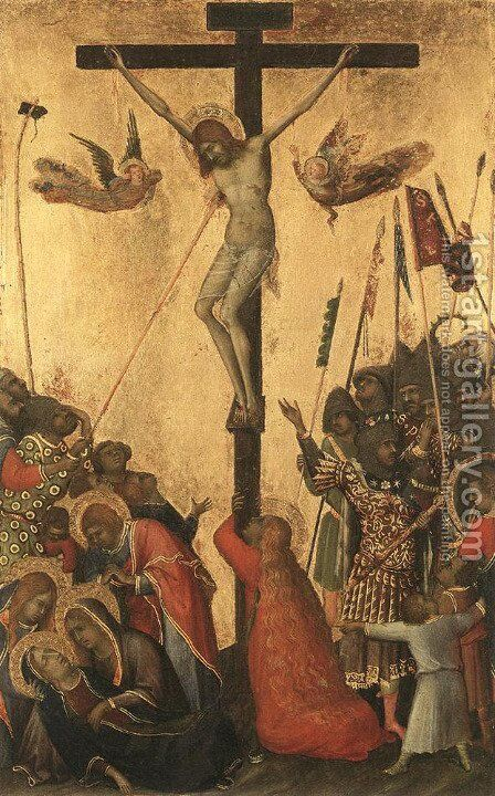 Crucifixion by Simone Martini - Reproduction Oil Painting