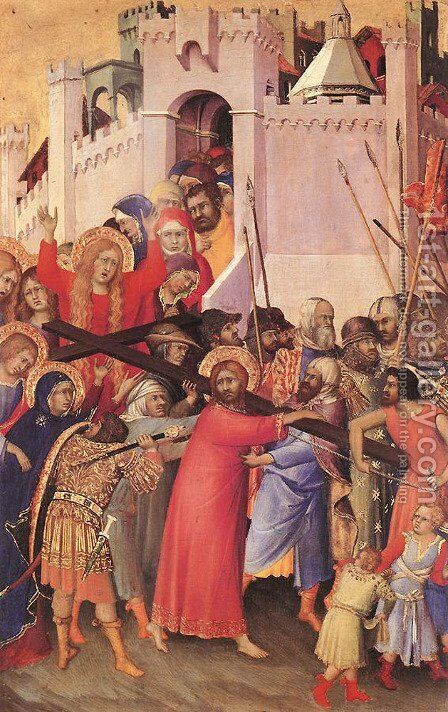 The Carrying of the Cross by Simone Martini - Reproduction Oil Painting