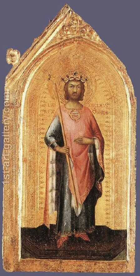 St Ladislaus, King of Hungary by Simone Martini - Reproduction Oil Painting