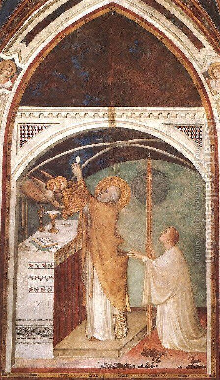 Miraculous Mass by Simone Martini - Reproduction Oil Painting