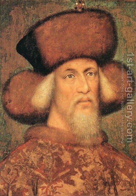 Portrait of Emperor Sigismund of Luxembourg by Antonio Pisano (Pisanello) - Reproduction Oil Painting