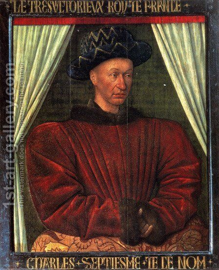 Charles VII, King Of France by Jean Fouquet - Reproduction Oil Painting