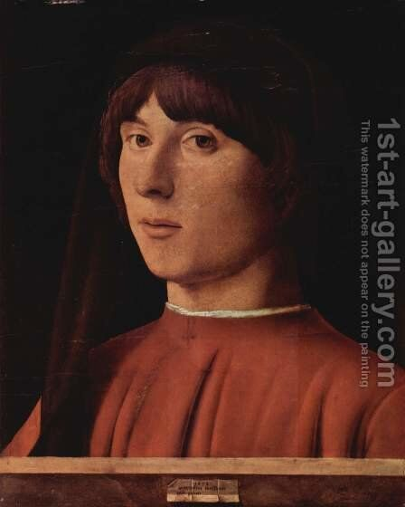 Portrait of a Man by Antonello da Messina Messina - Reproduction Oil Painting