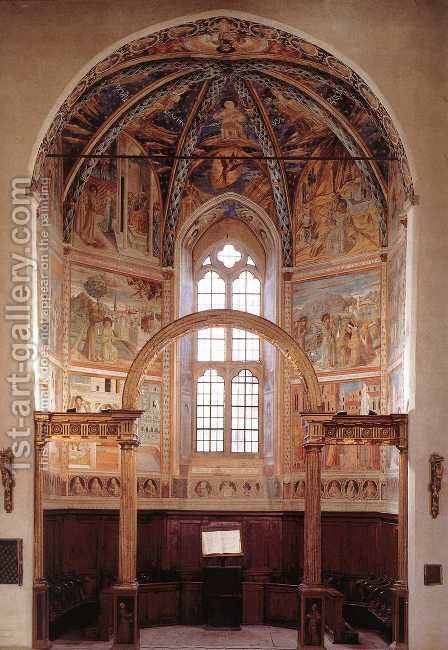 View of the main apsidal chapel by Benozzo di Lese di Sandro Gozzoli - Reproduction Oil Painting