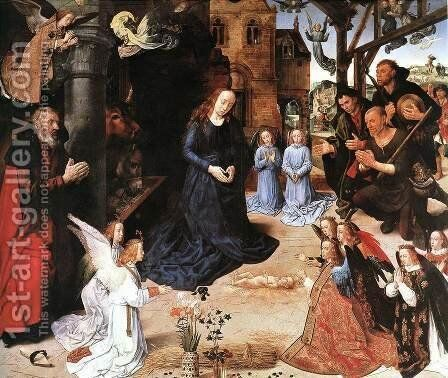 The Adoration of the Shepherds by Hugo Van Der Goes - Reproduction Oil Painting