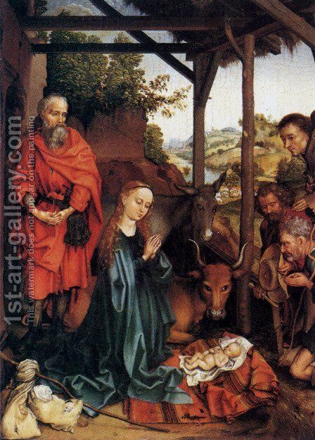 Adoration Of The Shepherds by Martin Schongauer - Reproduction Oil Painting