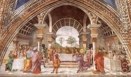 Herod's Banquet by Domenico Ghirlandaio - Reproduction Oil Painting