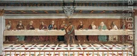 Last Supper by Domenico Ghirlandaio - Reproduction Oil Painting