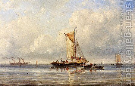 Fishing In A Calm by Ary Pleysier - Reproduction Oil Painting