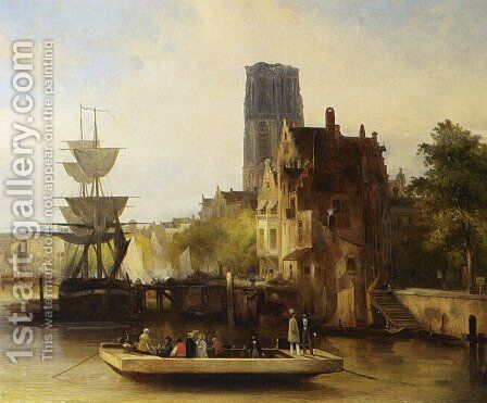 The Ferry by Jan Van Der Kaa - Reproduction Oil Painting