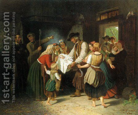 Das Findelkind by Hubert Salentin - Reproduction Oil Painting