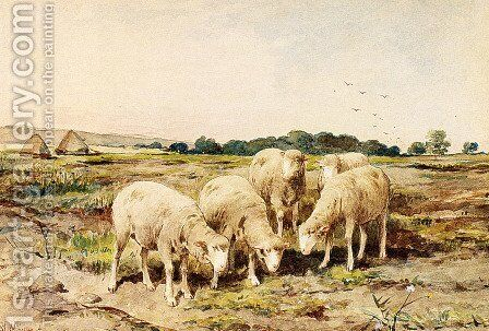 Grazing Sheep by Anton Mauve - Reproduction Oil Painting