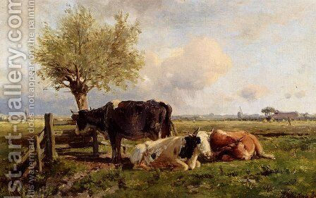 Resting Cows by Anton Mauve - Reproduction Oil Painting