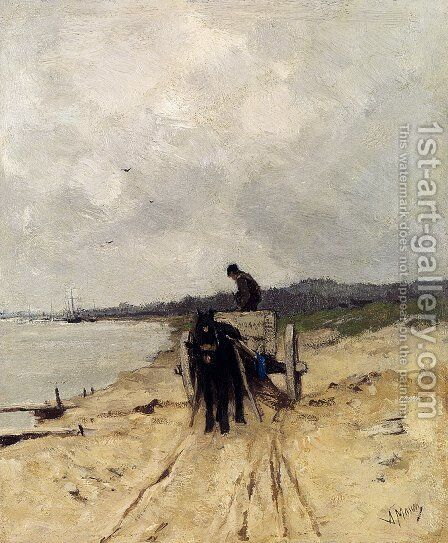 The Sand-Cart by Anton Mauve - Reproduction Oil Painting