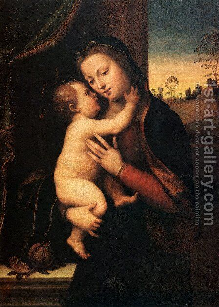 Madonna And Child by Mariotto Albertinelli - Reproduction Oil Painting