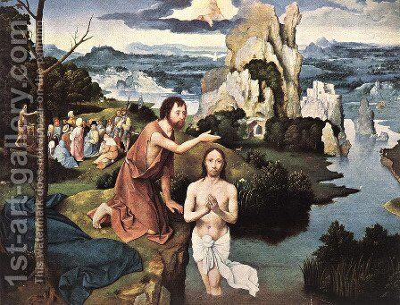 Baptism of Christ by Joachim Patenier (Patinir) - Reproduction Oil Painting